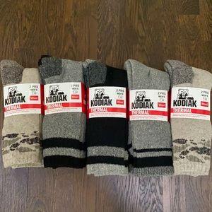 10 pairs Kodiak Mens Thermal Wool Socks
